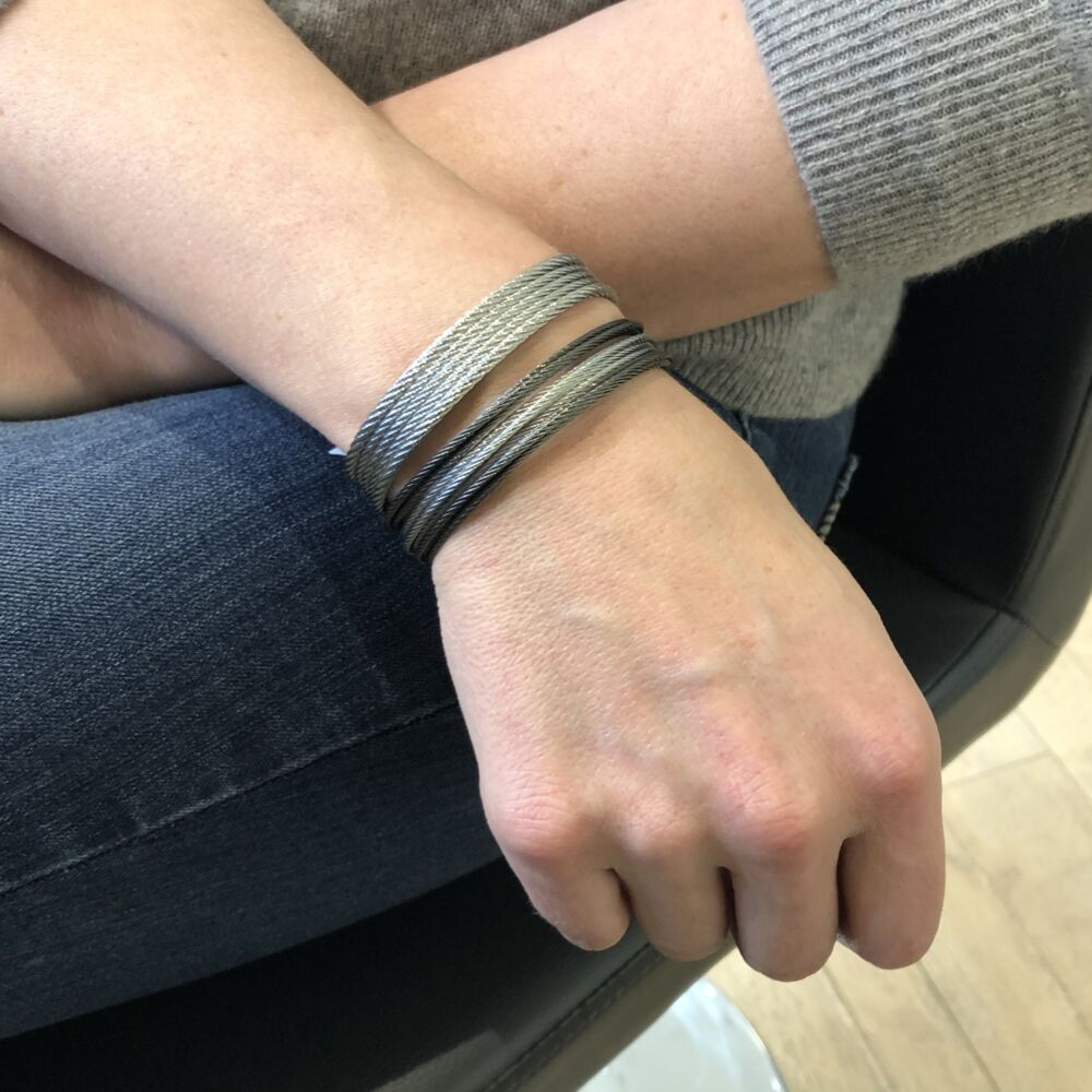 Grey Cable Mini Cuff