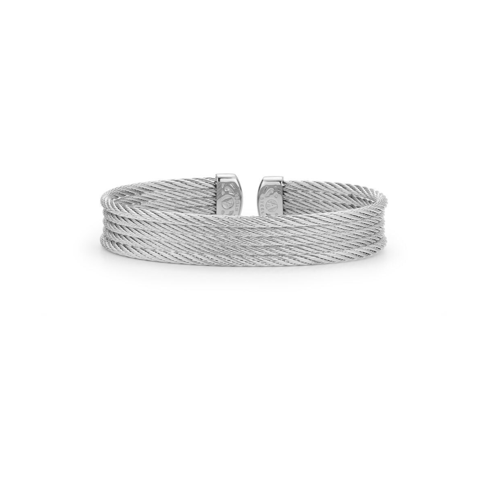 Image 2 for Grey Cable Mini Cuff