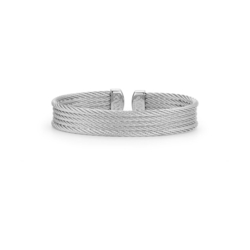 Closeup photo of Grey Cable Mini Cuff