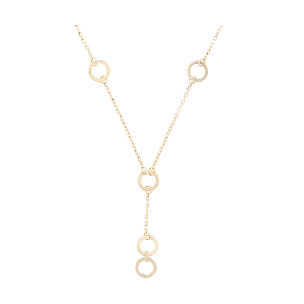 14k Lariat Necklace with 5 Openable Stations