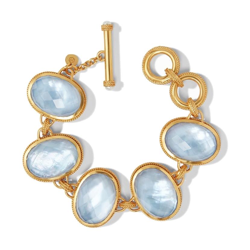 Calypso Bracelet - Irridescent Chalcedony Blue