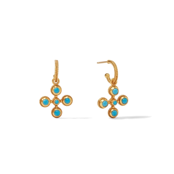 Closeup photo of Somerset Hoop & Charm Earring