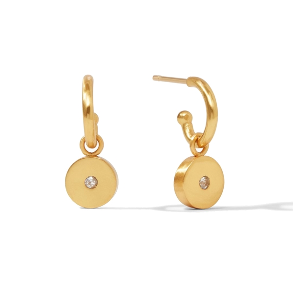 Closeup photo of Poppy Hoop & Charm Earring