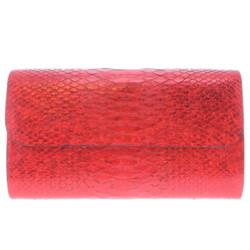 Closeup photo of Iridescent Red Python Clutch