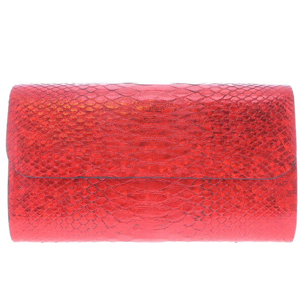 Closeup photo of Iridescent Red Python Clutch