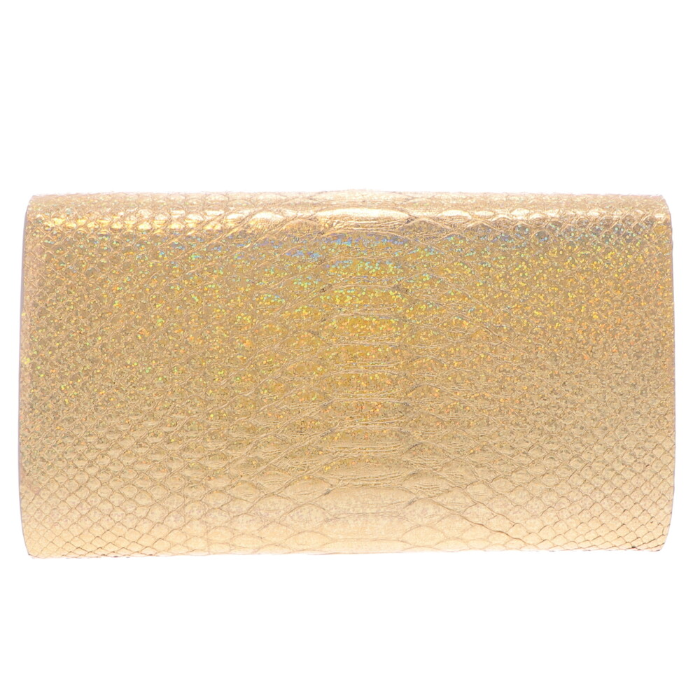 Image 2 for Iridescent Gold Python Clutch