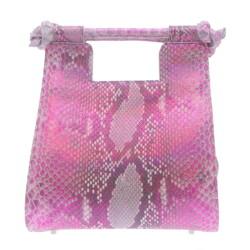 Closeup photo of Small Metallic Pink Python Resort Bag