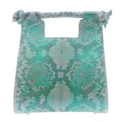 Closeup photo of Small Metalic Green Python Resort Bag