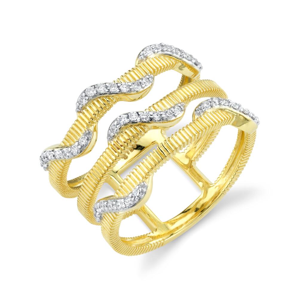 Three Bar White Diamond Wrap Ring