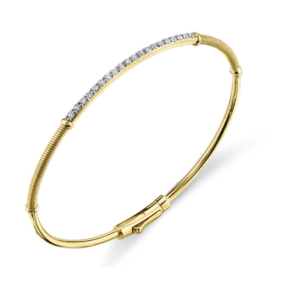 Image 2 for White Diamond and Strie Detail Bracelet
