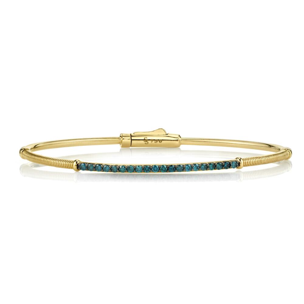 Image 2 for Blue Diamond and Strie Detail Bracelet