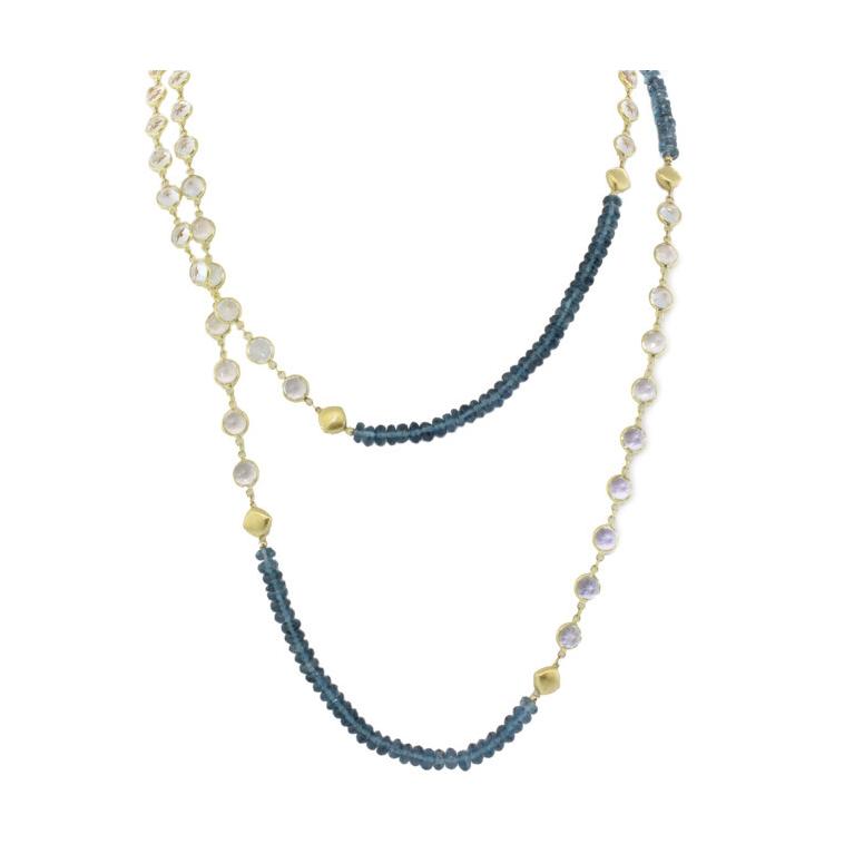 London Blue and white Topaz Chain