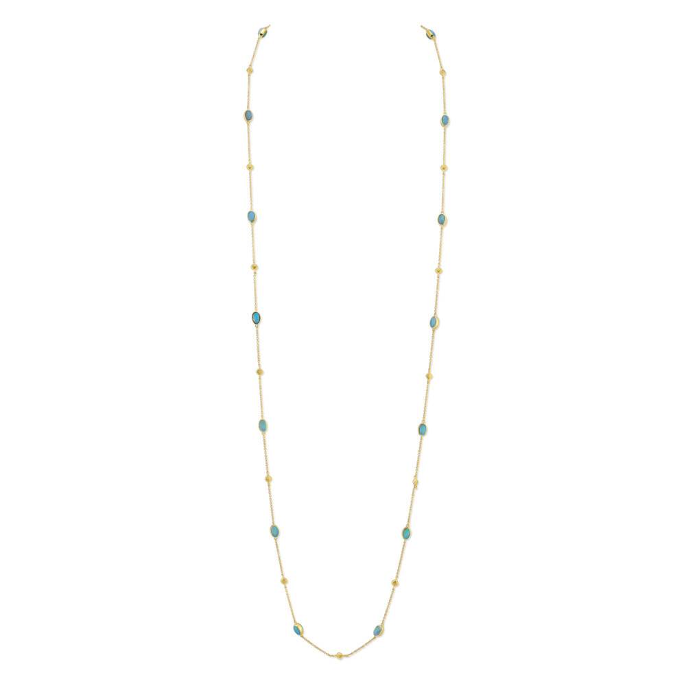 Crystal Opal Chain With Strie Stations