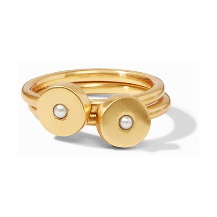 Closeup photo of Poppy Stack Ring