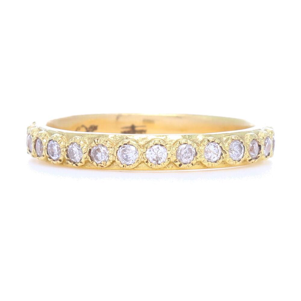 White Diamond Stack Ring