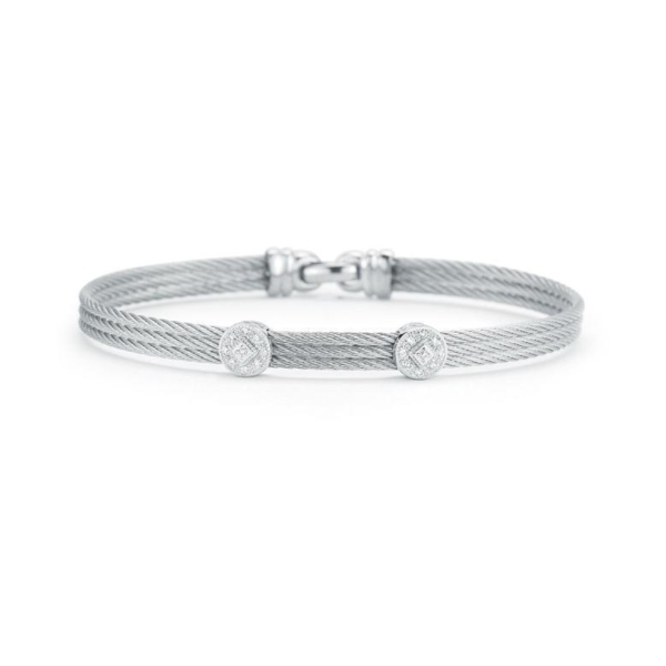 Closeup photo of Classique Two Circled Station Bangle
