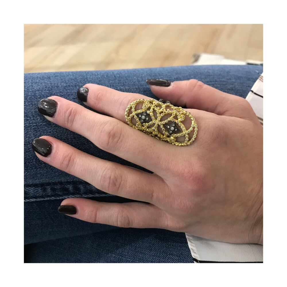 Image 2 for Large Open Scroll Ring