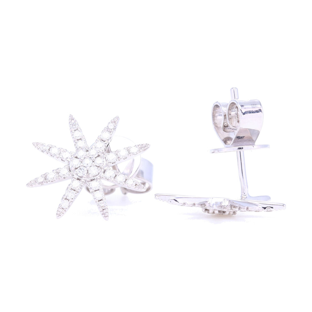 Image 2 for Classic 14k Gold Diamond Studs