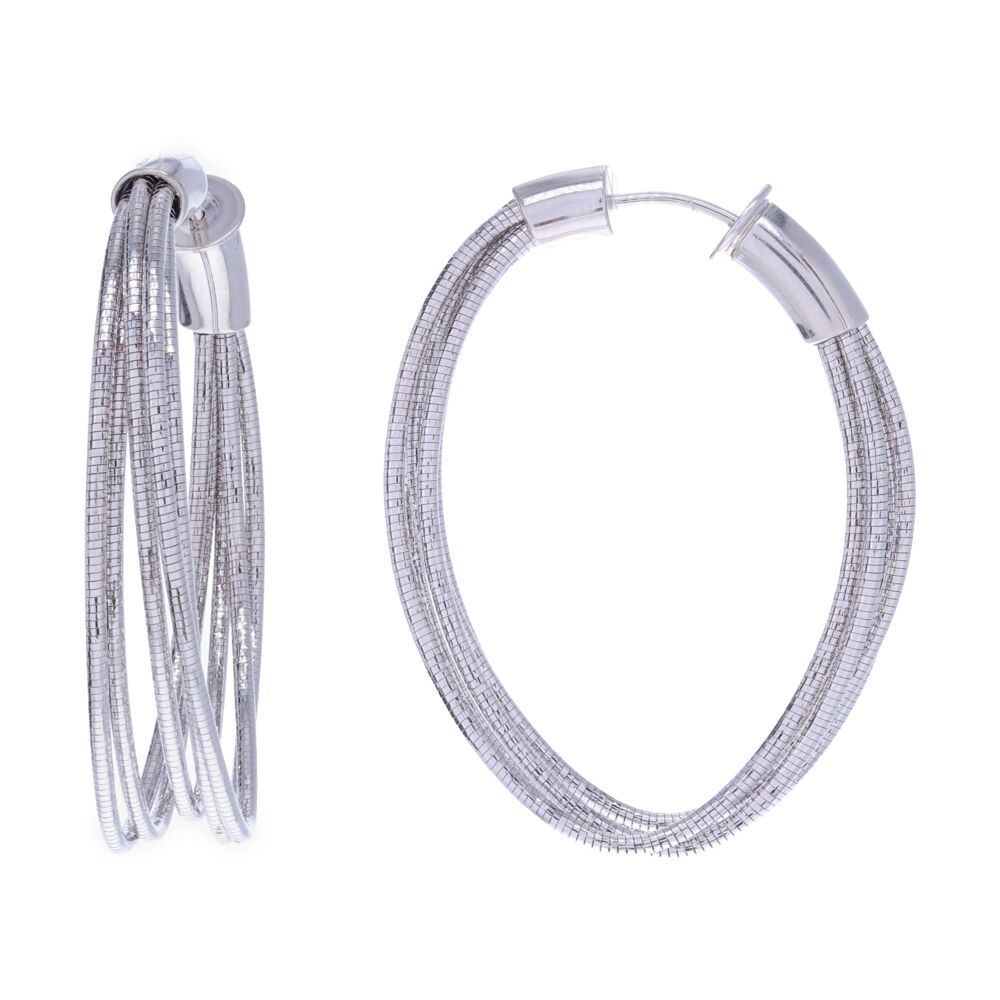 Image 2 for Large Oval Hoop Earrings