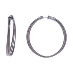 Closeup photo of Medium Hoop Earrings