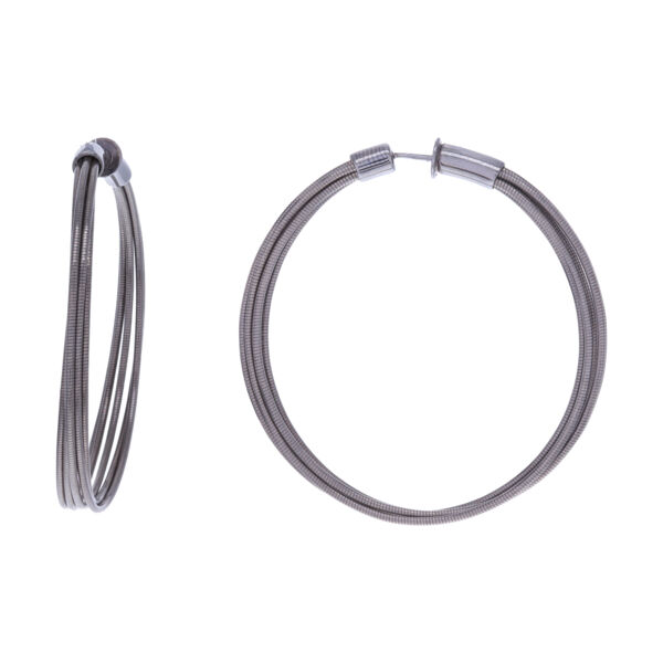 Closeup photo of Medium Hoop Earrings