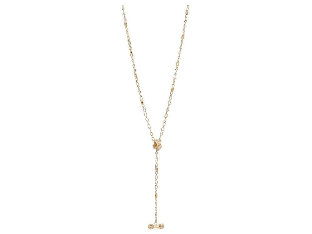 31'' Sueno 18k Yellow Gold Lariat/Toggle Chain