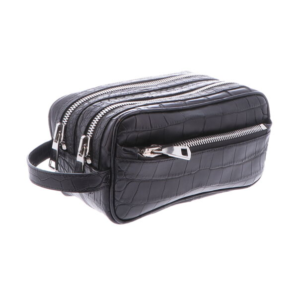 Closeup photo of Men's Alligator DOPP Bag