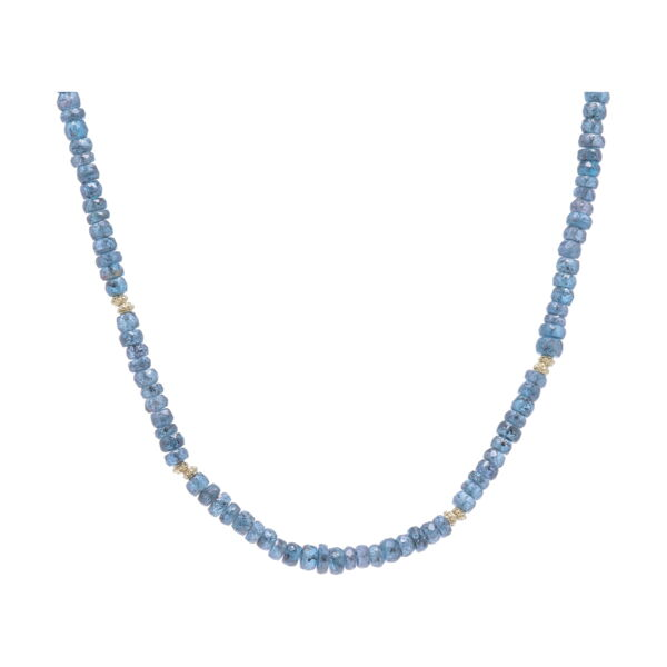 Closeup photo of Kyanite Beaded Necklace