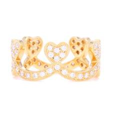 Closeup photo of Beverley K Heart Crown Ring