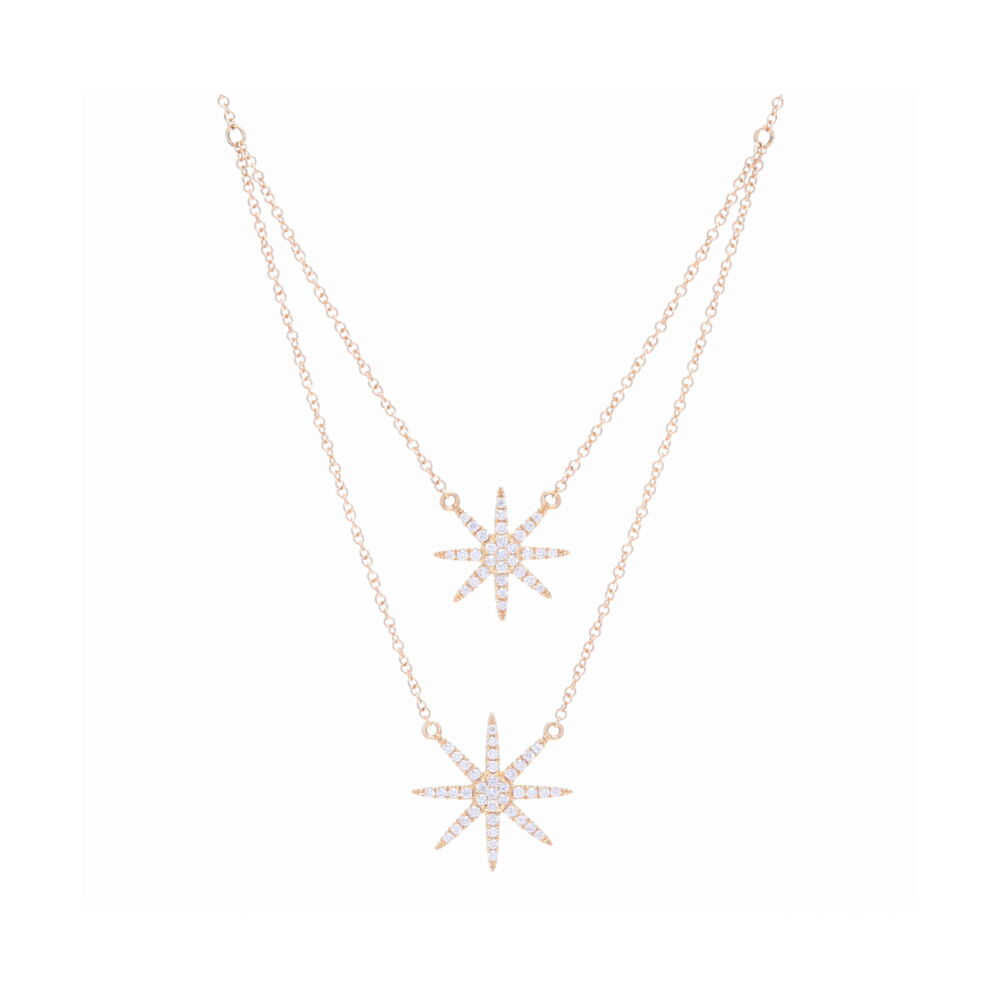 Double Drop Star Necklace