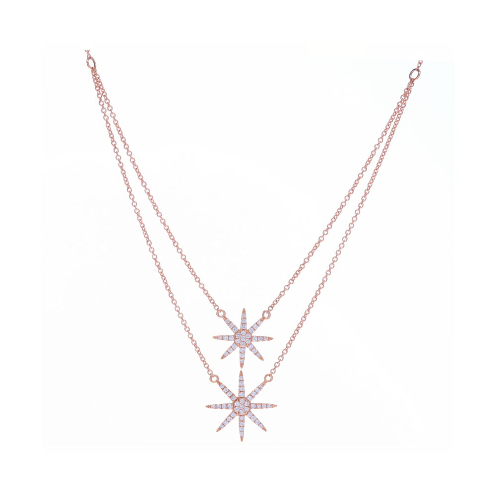 Image 2 for Double Drop Star Necklace