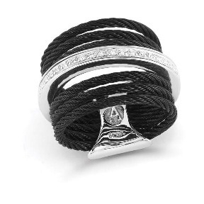 Image 2 for Noir Stacked Band Ring