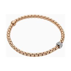 Closeup photo of Eka Tiny Flex'it 18k Gold Tiny Pave Bracelet with Diamonds 733B PAVE