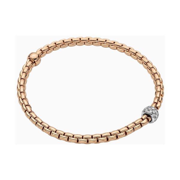 Closeup photo of Eka Tiny Flex'it 18k Gold Tiny Pave Bracelet with Diamonds