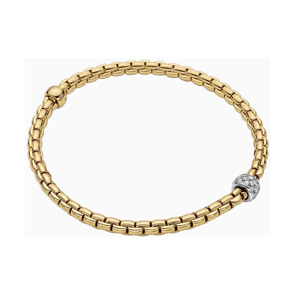 Eka Tiny Flex'it 18k Gold Tiny Pave Bracelet with Diamonds