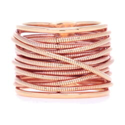 Closeup photo of DNA Spring Ring - Rose Gold