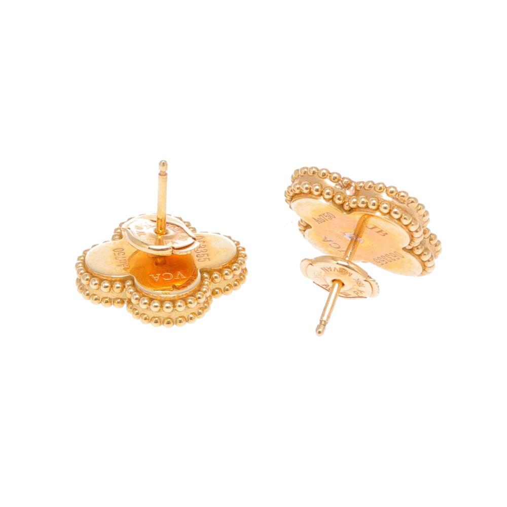 Image 2 for 18k Clover Earrings