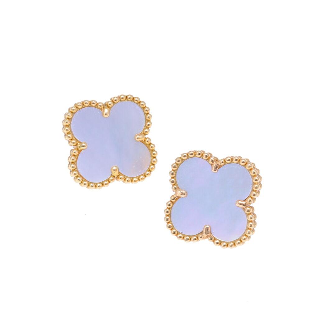 18k Clover Earrings