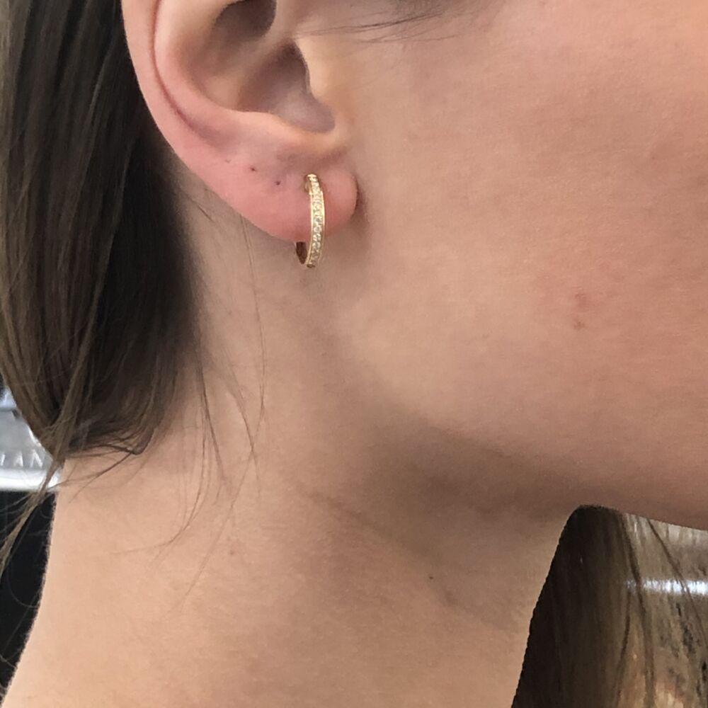 Image 2 for Diamond Huggie Earrings