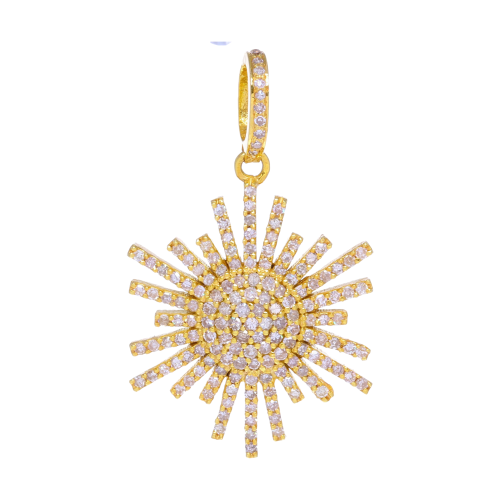 Yellow Gold Diamond Scatter Star Pendant