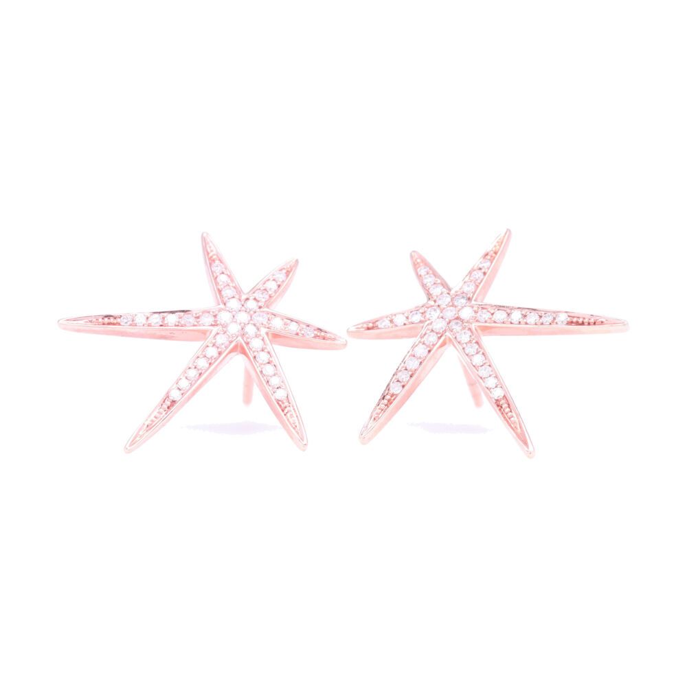 Large Abstract Star Studs