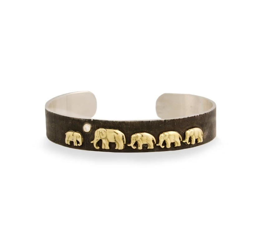 Silver Tsavo Nights Trail Cuff