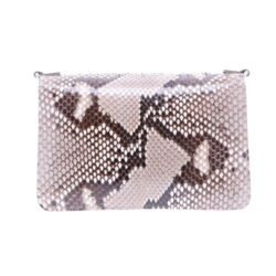Closeup photo of Natural Python Chain Bag