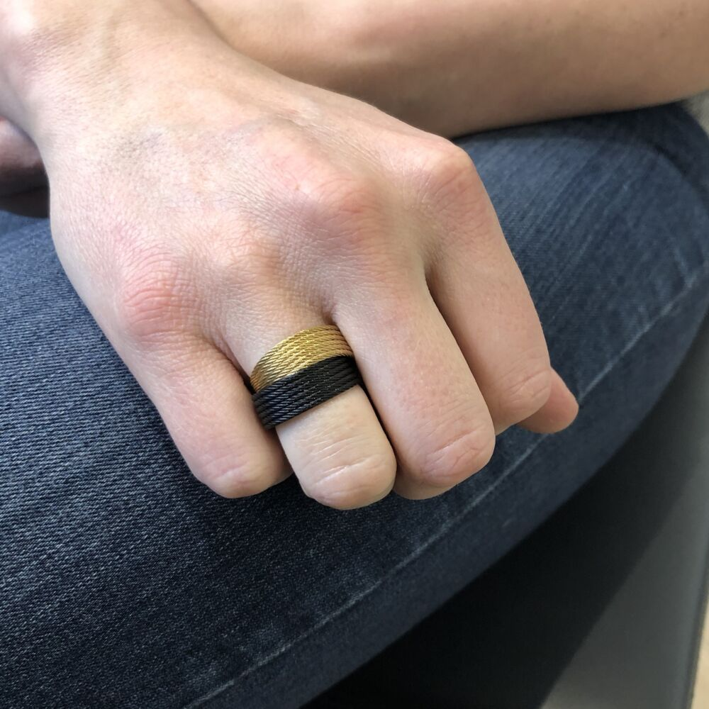 Noir & Yellow Stacked Ring