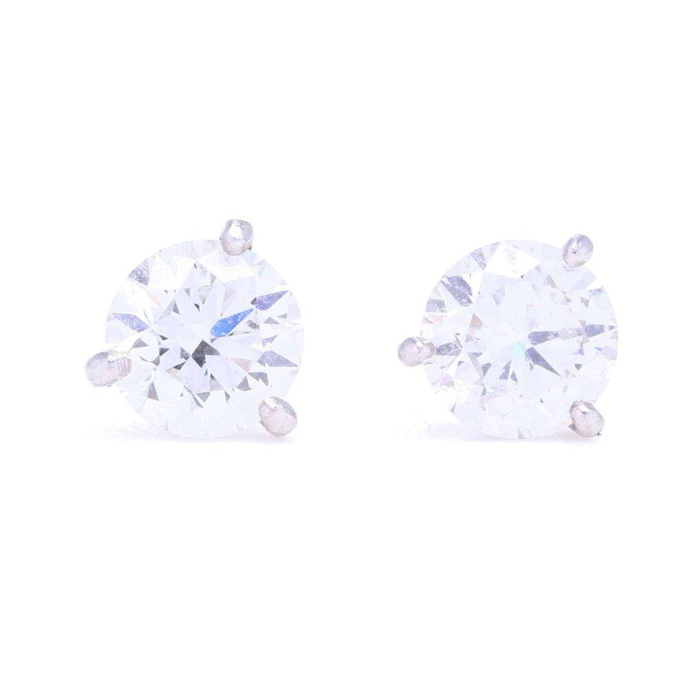 2.00tcw SI1 H/J Diamond Studs set in a Platinum Martini Setting