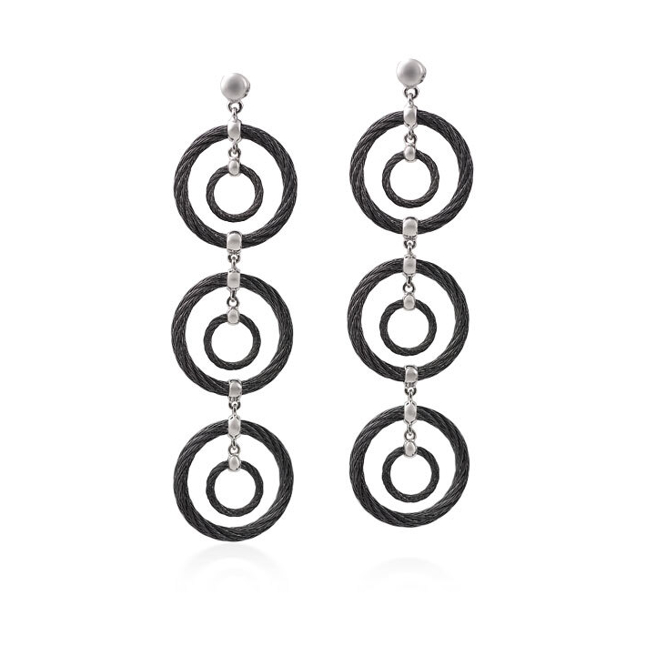 Image 2 for Triple Drop Cable Earrings
