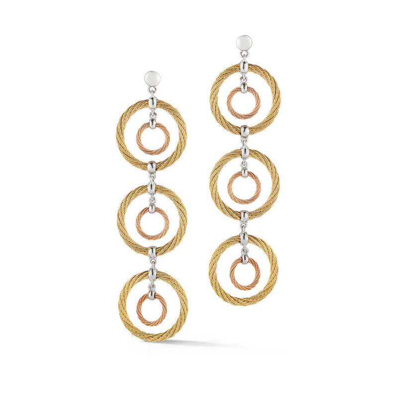 Triple Drop Cable Earrings