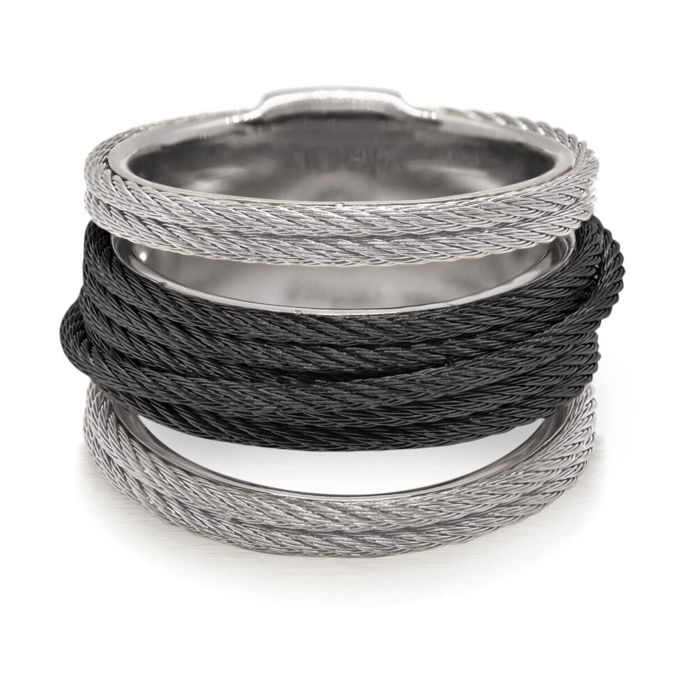 Image 2 for Noir Multi-Cable Separated Stack Ring