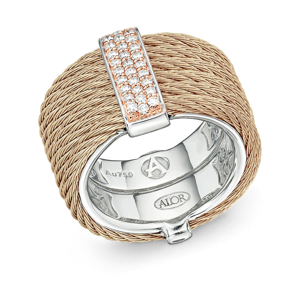 Image 2 for Carnation Stacked Multi-Cable Ring