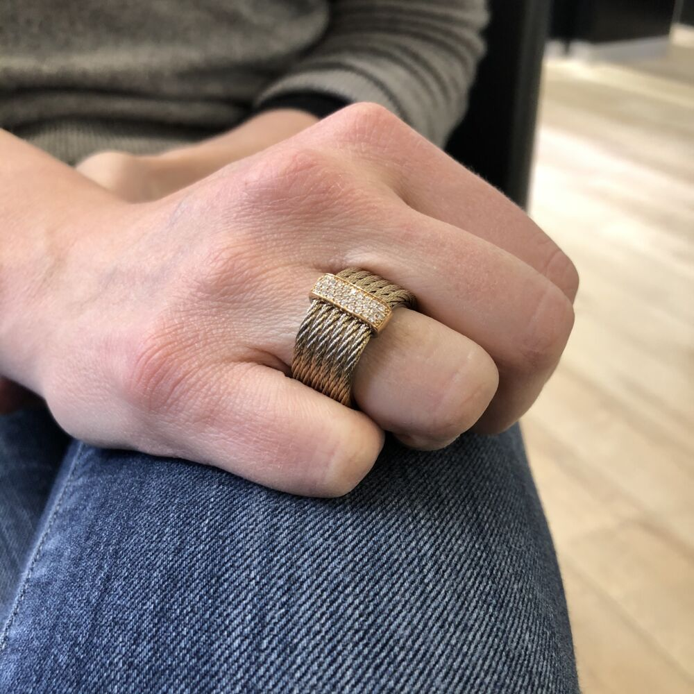 Carnation Stacked Multi-Cable Ring